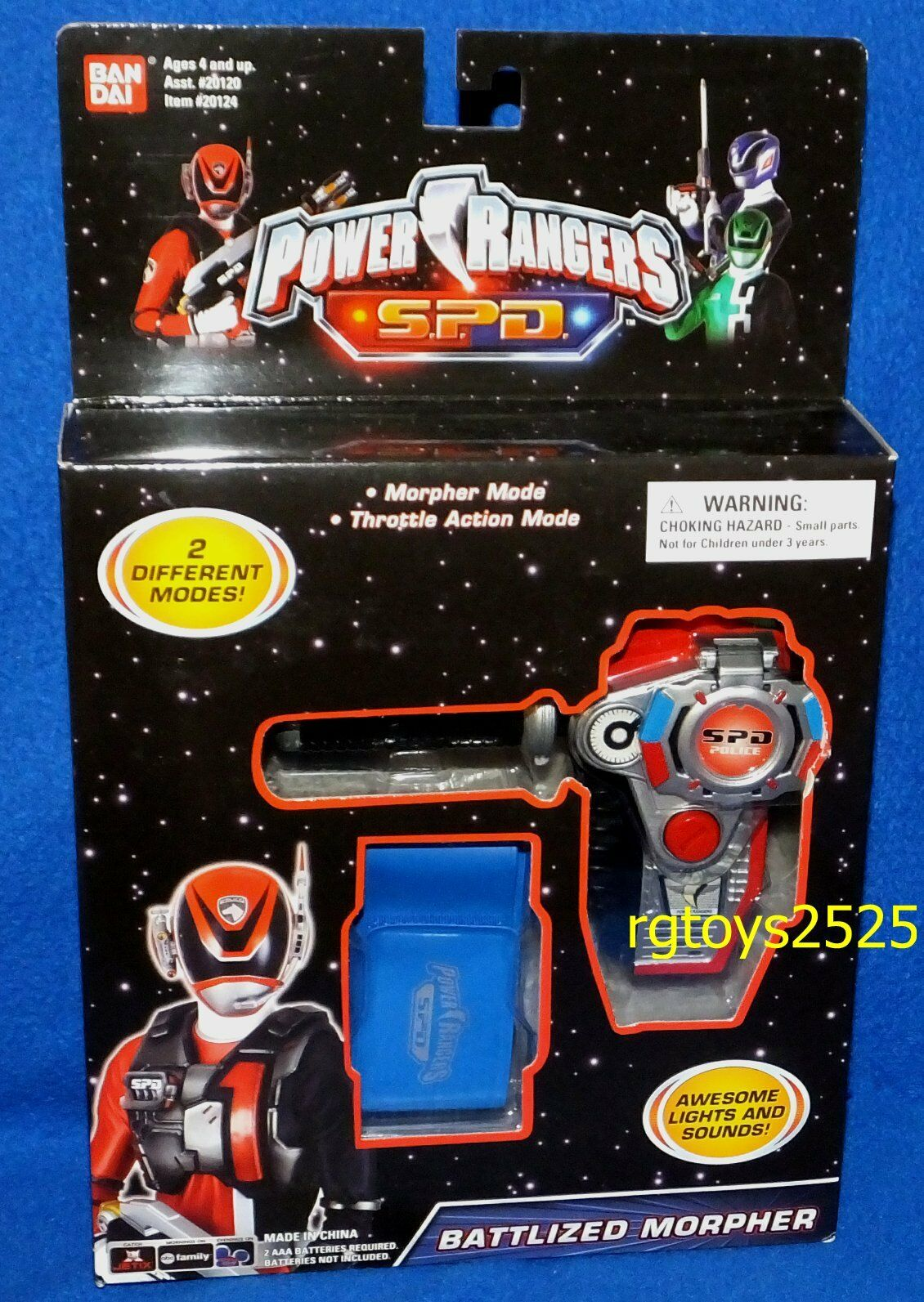 Power Ranger SPD RED Battlized Morpher New Electronic Light & Sound Factory Seal