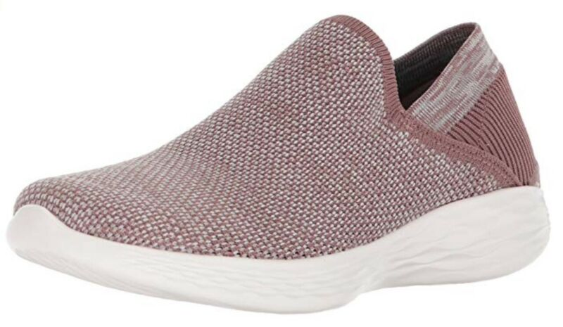 Women's Skechers 'you' Slip On Trainers Mauve / Pink - Size 2 Bnib