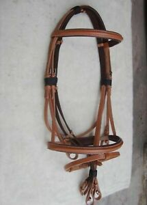 Crystal Clincher 2 Rows Swedish Leather Horse Bridle With Web reins All Size F//S