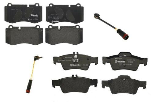 Brembo Front and Rear Low-Met Brake Pads with Sensors Kit For Mercedes C216 W221