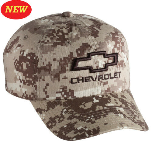 3-D CHEVROLET HAT OPEN BOWTIE DIGITAL CAMO Base Ball CAP HAT CHEVROLET 0b788f