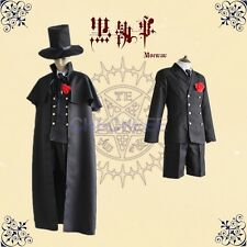 Black Butler Ciel Phantomhive Funeral dress Cosplay Costume