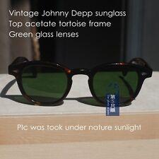 Vintage Johnny Depp sunglasses mens eyeglasses acetate tortoise M glass G15 lens
