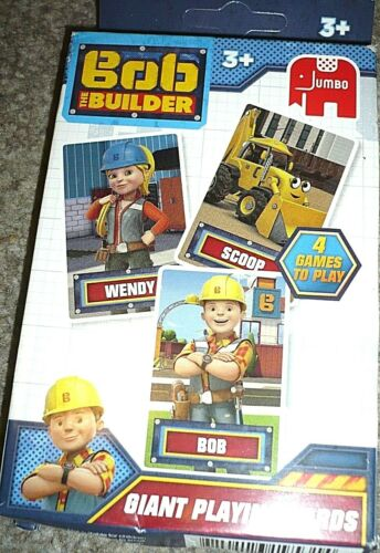 Bob the Builder Giant Playing Cards BNIP