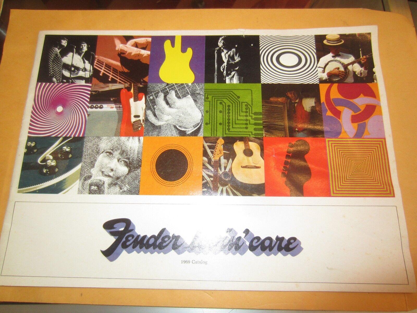Vintage 1969 Fender Original Catalog Excellent Condition Paperwork Collectors