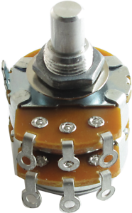 "R-V38-2X500KA Potentiometer Alpha Audio Dual Resistance 500 kOhm 3//8/"" Bushing"