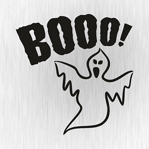 Booo-Ghost-Buh-Geist-Halloween-Tuning-Schwarz-Auto-Vinyl-Decal-Sticker-Aufkleber
