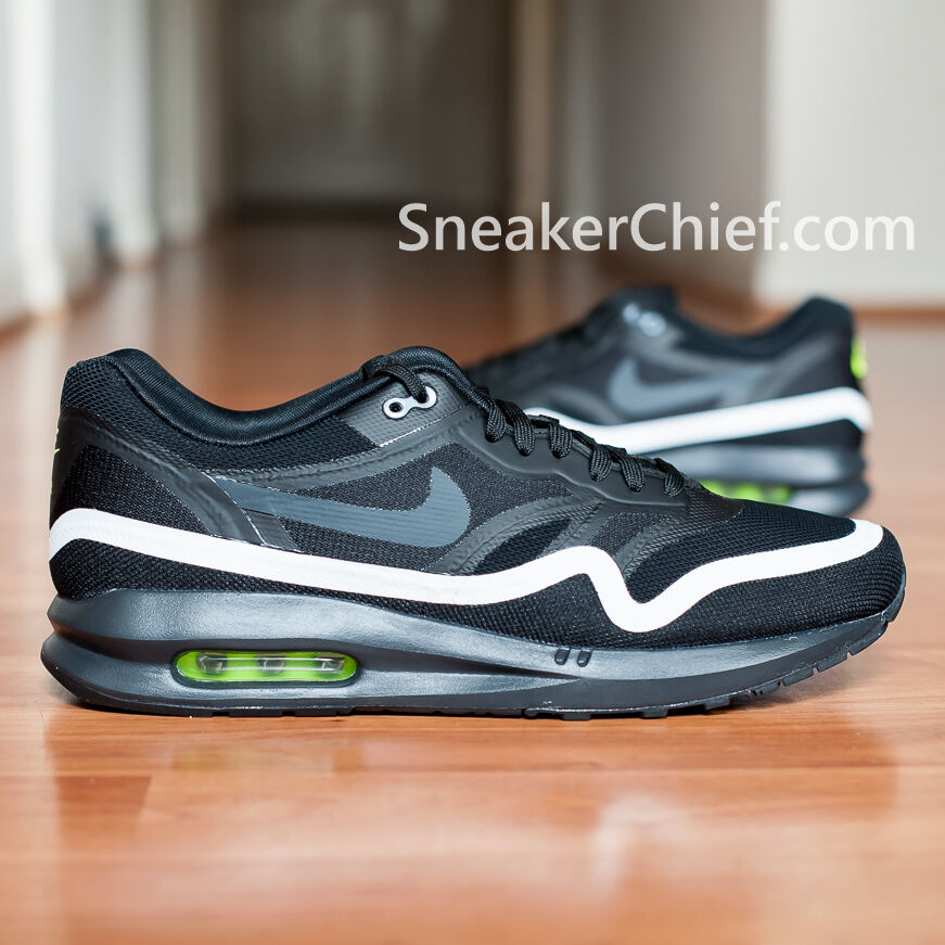 Comfortable and good-looking NIKE AIR MAX LUNAR1 MENS COMFORT RUNNING SHOES BLACK WHITE 654469 003