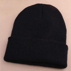 Sn-Kq-Mode-Homme-Femmes-Bonnet-Tricot-de-Ski-Hip-Hop-Hiver-Chaud-Solide-Co