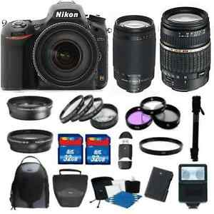 Details about NEW Nikon D750 Camera w/ 18-200 VR II + 70-300 G 8 Lens Kit +  64GB Deluxe Kit