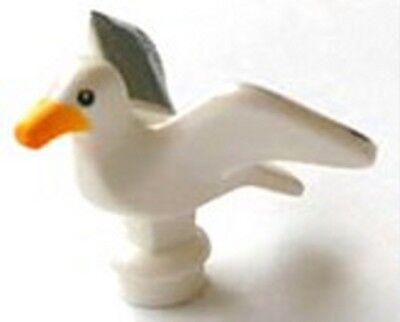 LEGO Minifigure Animal WHITE Bird Seagull Bright Light Orange Beak Gray Wings