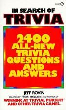 In Search of Trivia: 2400 All-New Trivia Questions and Answers 1st Edition! LN