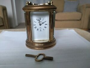 L-039-EPEE-MINIATURE-8-DAY-CARRIAGE-CLOCK-IN-EXCELLENT-CONDITION-NICE-PATINA-KEY