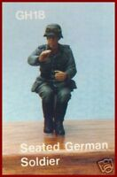 Hornet WWII German Soldier Seated 1/35 Scale Figure Model Kit