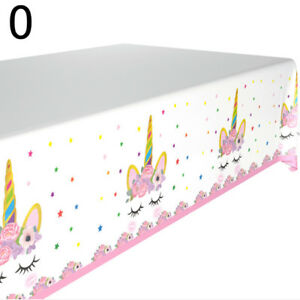 Image Is Loading Unicorn Theme Kids Tablecloth Baby Shower Decor Birthday