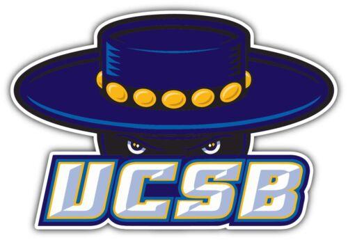 "UCSB Gauchos University College NCAA Car Bumper Vinyl Sticker Decal 5/""X3.6/"""