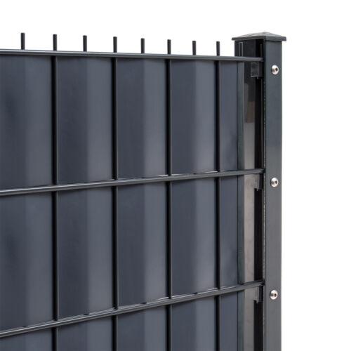 Doppelstabmattenzaun Gartenzaun Doppel-Stab-Matten Zaun Sichtschutzzaun SET