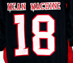 MEAN MACHINE - LONGEST YARD MOVIE JERSEY - PAUL CREWE  18 NEW SEWN ... 14f5fd395