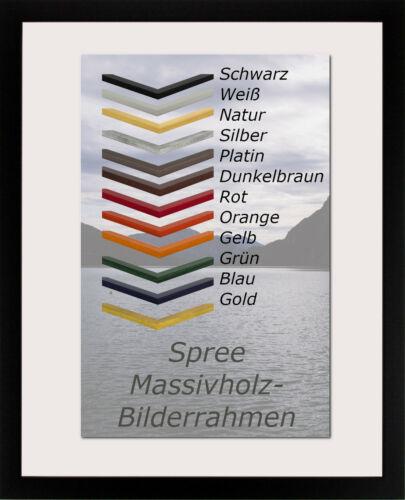 Echtholz-Bilderrahmen Massiv SPREE 30 x 35 cm mit großer Farbwahl