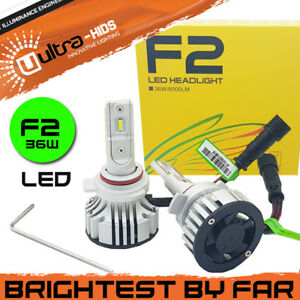 F2 9012 CANBUS ERROR FREE WHITE LED KIT 6500K MOT LEGAL ACCURATE BEAM PATTERN