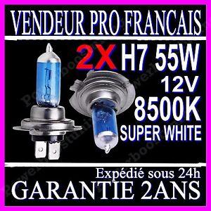 2-AMPOULES-H7-55W-XENON-8500K-12V-PAIRE-LAMPE-HALOGENE-FEU-PHARE-GAZ-SUPER-WHITE