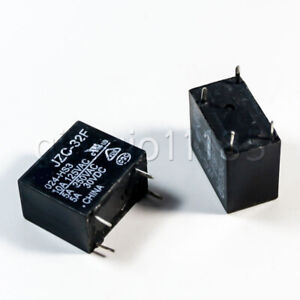 US-Stock-10pcs-Power-Relay-SPST-5A-250VAC-30VDC-JZC-32F-024-HS