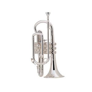 Bach Stradivarius Short Bb Cornet, Silver Plated
