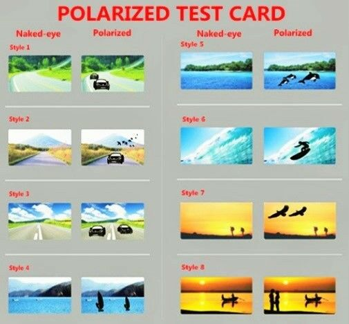 7fc7c0760420 MEN LADIES POLARISED POLARIZED SUNGLASSES SHADES TEST CARD SKI FISH RUN. 5  CARDS