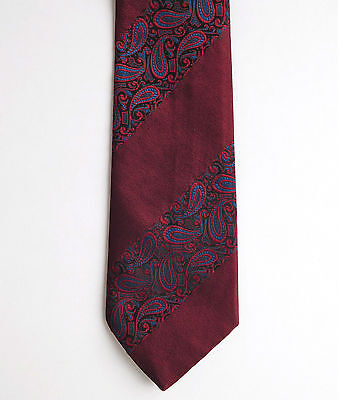 Paisley terylene tie with patent seal clip Ter Elite by Favourite vintage 1960s