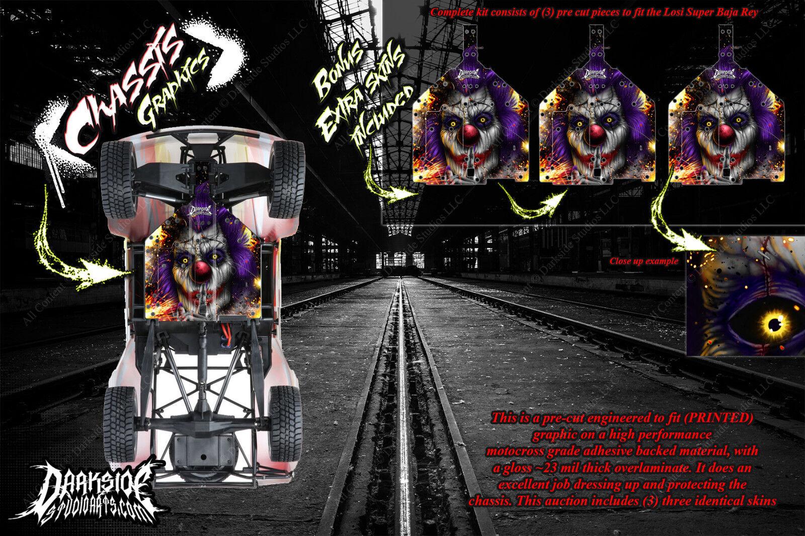 Losi super baja rey  pyro  chassis wrap decal kit hop bis unterbodenschutzblech schutz