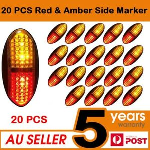 2 X 12V 6 LED White  Side Marker Lights Tractor Cattle Trailer Truck Ford Case