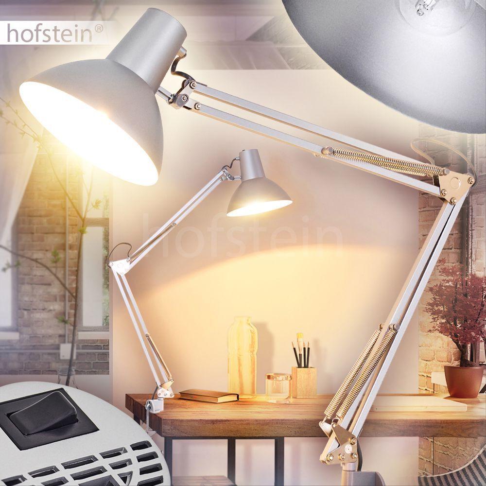 Ufficio regolabile sonno salotto camera lampada retrò scrittura lettura Lampada da tavolo Grigio