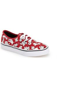 7f1cf8598d Vans Authentic Disney Dalmatians Red Shoes Kids Size 1.5   2 New In ...