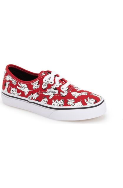 ccfae64f33 Vans Authentic Disney Dalmatians Red Shoes Kids Size 1.5   2 New In Box HTF