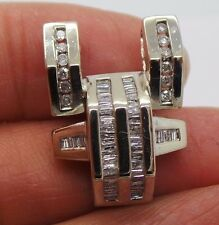 STUNNING 14K WG DIAMOND CLUSTER PENDANT .75 tcw AI-583  7.15 grams