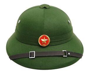 New Original Vietnamese Pith Helmet Vc Hanoi Vietnam Soldier War Hat Genuine Ebay