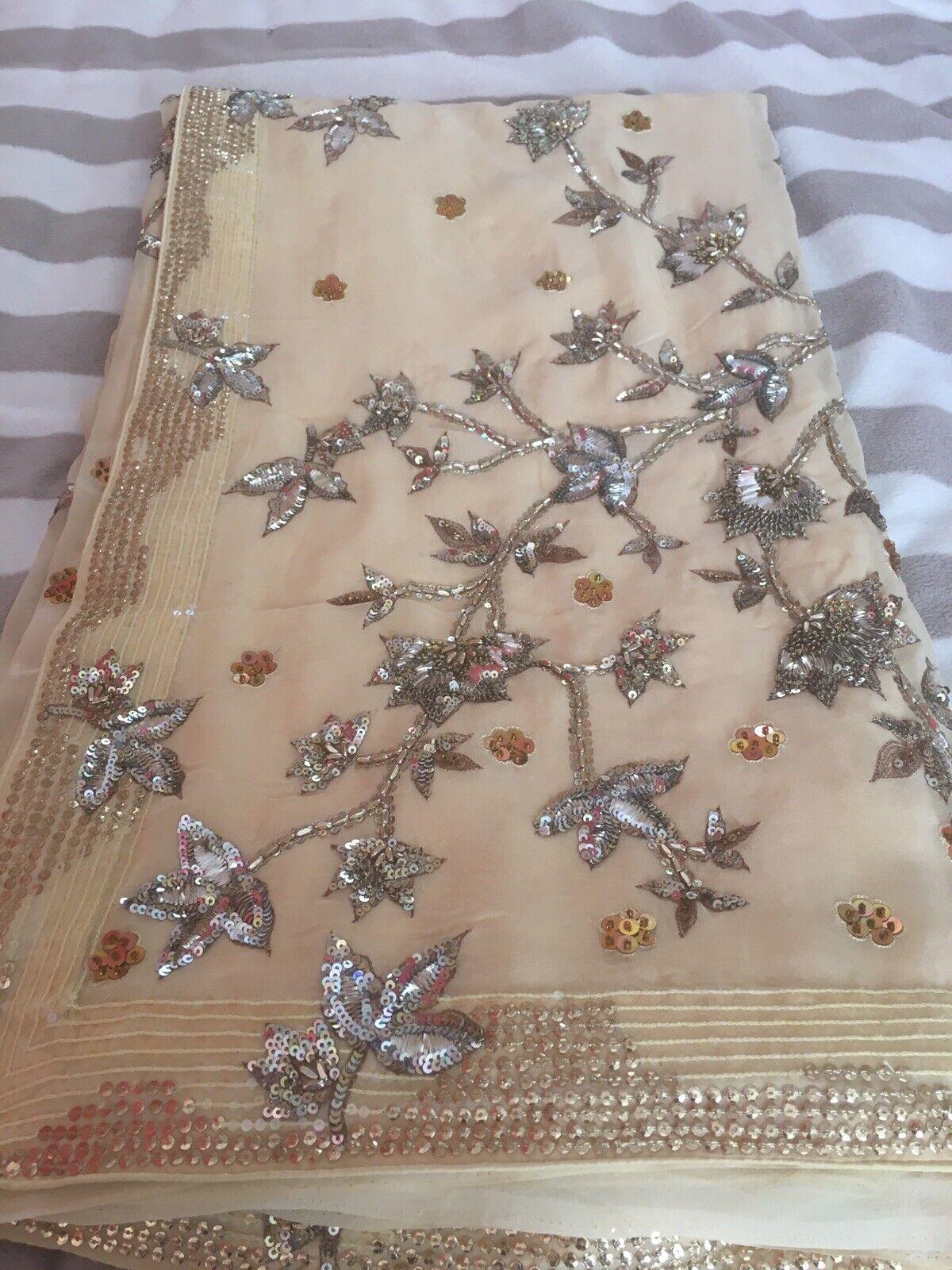 Indian Bollywood Party Wear Designer Wedding Saree Sari