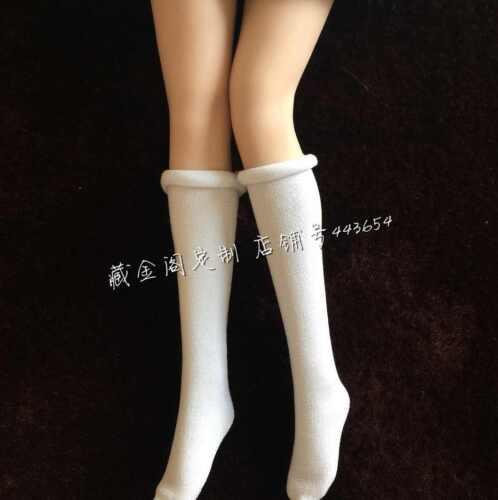 """White+Black High loaded tennis socks For 12/"""" PH Female Body X2 1//6 Scale Socks"""