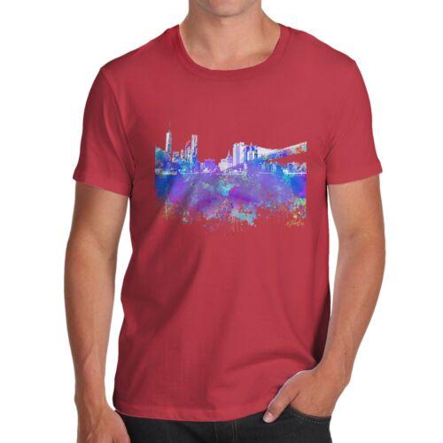 Twisted Envy New York Skyline Ink Splats Men/'s Funny T-Shirt