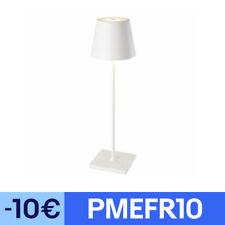 Lampe de bureau touch KELLY blanc aluminium H38cm