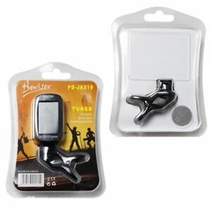 100 x JOBLOT WHOLESALE BLACK GUITAR CLIP ON DIGITAL TUNER CLEARANCE