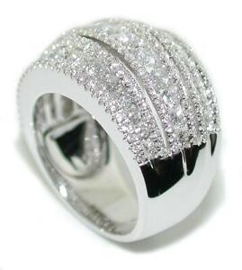 2-84-TCW-Band-14KW-Gold-Round-Brilliant-Cut-Diamond-Ring