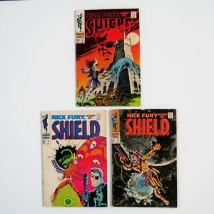 Nick-Fury-Agent-of-Shield-Marvel-LOT-Silver-Age-comic-books-mid-grade-68-3-5-6