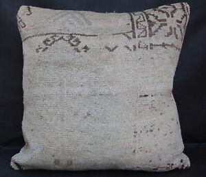 Terracotta Oushak Carpet Pillow Cover,24/'x16/' inch Muted Turkish Carpet Pillow,Lumbar Vintage Pillow,Bohemian Pillow,Decorative Pillow.