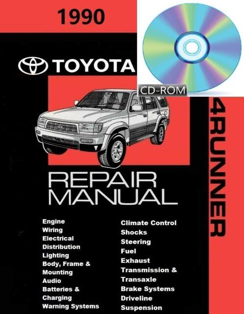 Oem Factory 1990 Toyota 4runner Service Shop Repair Manual