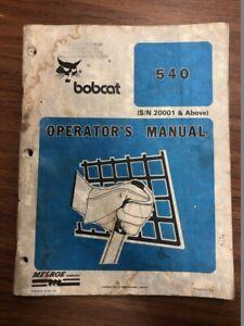 Details about Bobcat 540 Skid Steer Loader Operator's Manual