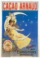 Cacao Arnaud Vintage Chocolate Advertising Poster Canvas Art Print 24x33 In.