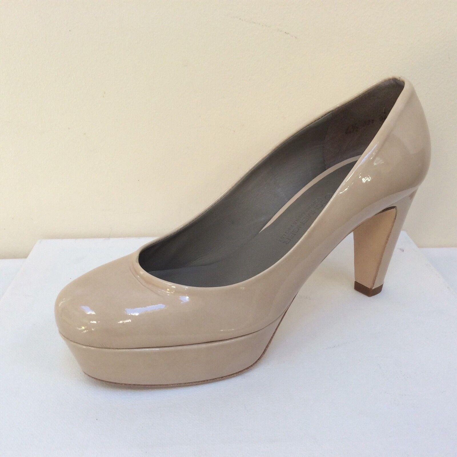 K&s Gil Nude Verni Plateforme Cour Chaussures, UK 4.5 EU 37.5,   BNWB