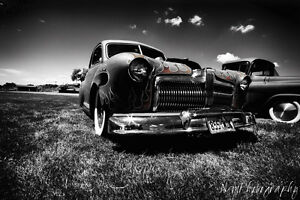 12x18 In Hot Rod Poster Vintage Chopped 1942 Ford Coupe Garage