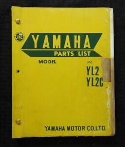 1968 1969 Yamaha 100cc Yl2 Yl2c Yl2c M Motorcycle Parts Catalog Manual Nice Ebay